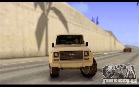Benefactor Dubsta Jurassic World Paintjob для GTA San Andreas вид сзади слева
