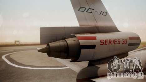 McDonnell-Douglas DC-10 Prototype N1339U для GTA San Andreas вид сзади слева
