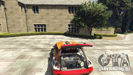 Renault 5 GT Turbo Rally для GTA 5 вид сзади справа