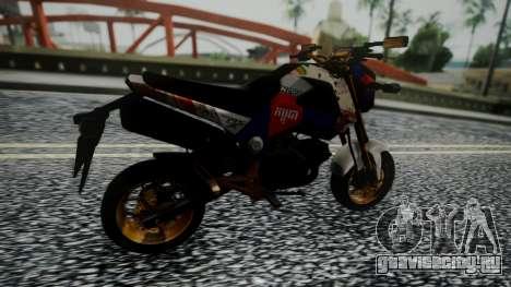 Honda MSX 125C Khmer для GTA San Andreas вид сзади слева