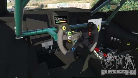 Mercedes-Benz C204 AMG DTM 2013 v1.0 для GTA 5 вид сзади справа