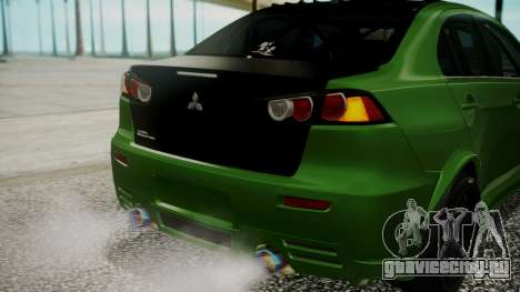 Mitsubishi Lancer Evolution X WBK для GTA San Andreas вид сверху