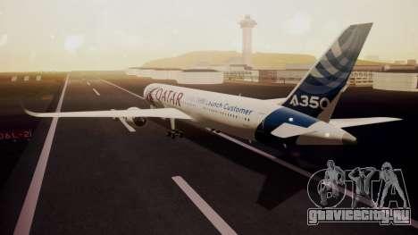 Airbus 350-900XWB Qatar Launch Customer для GTA San Andreas вид слева
