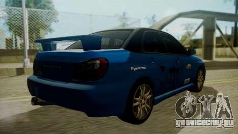 Subaru Impreza WRX GDA для GTA San Andreas двигатель