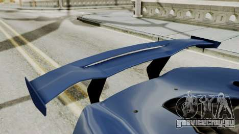 McLaren P1 GTR v1.0 для GTA San Andreas вид изнутри