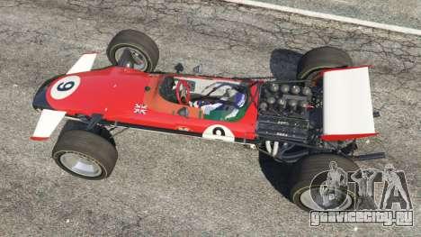 Lotus 49 1967 [ailerons] для GTA 5 вид сзади