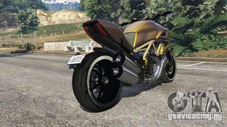 Ducati Diavel Carbon 11 v1.1 для GTA 5 вид справа