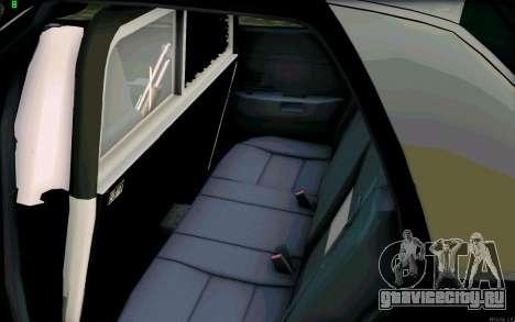 Weathersfield Police Crown Victoria для GTA San Andreas вид изнутри