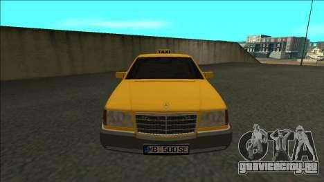 Mercedes-Benz W140 500SE Taxi 1992 для GTA San Andreas вид справа