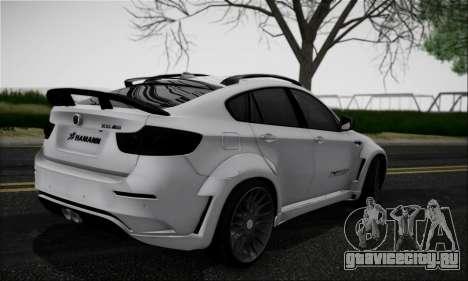 BMW X6M HAMANN Final для GTA San Andreas вид справа