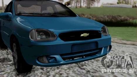 Chevrolet Corsa Classic 2009 v3 для GTA San Andreas вид изнутри