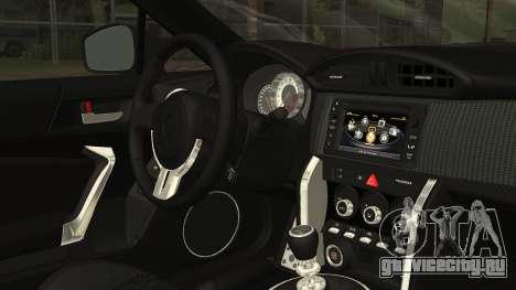 Toyota GT86 2012 LQ для GTA San Andreas вид справа
