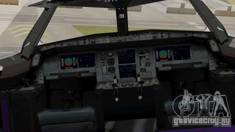 Airbus A380-800 British Overseas Airways Corp. для GTA San Andreas вид сзади