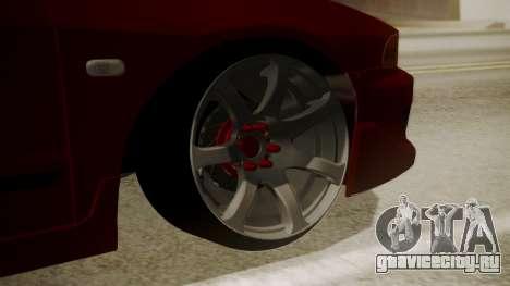 Mitsubishi Galant VR6 Stance для GTA San Andreas вид сзади слева