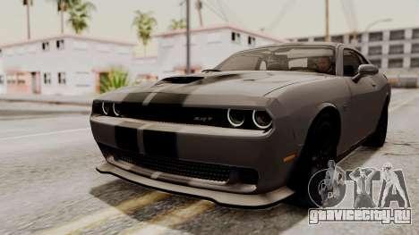 Dodge Challenger SRT Hellcat 2015 HQLM PJ для GTA San Andreas салон
