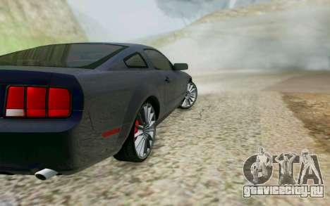 Ford Mustang GT 2005 для GTA San Andreas вид сзади