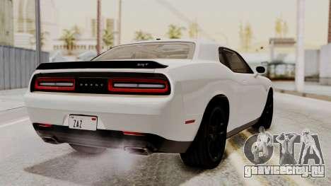 Dodge Challenger SRT Hellcat 2015 HQLM PJ для GTA San Andreas вид слева