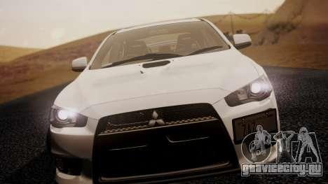 Mitsubishi Lancer Evolution X 2015 Final Edition для GTA San Andreas вид сзади слева