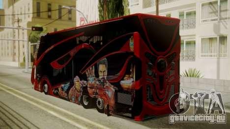 Bus Iron Man для GTA San Andreas вид слева