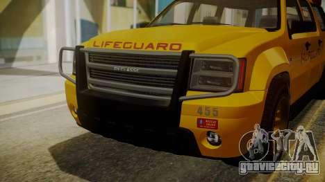 GTA 5 Declasse Granger Lifeguard IVF для GTA San Andreas вид изнутри