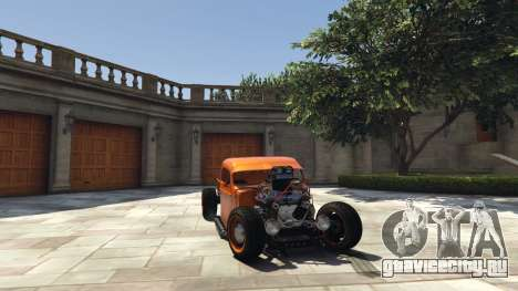 Ford Pickup HoTrod 1936 для GTA 5 вид справа