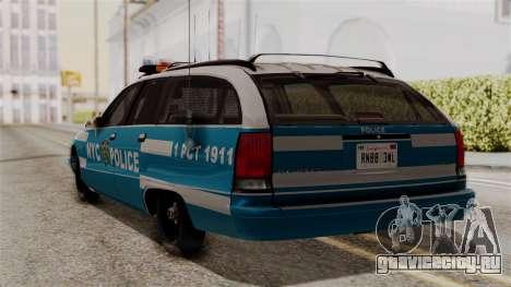 Chevy Caprice Station Wagon 1993-1996 NYPD для GTA San Andreas вид слева