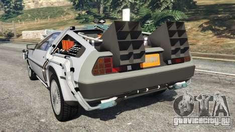 DeLorean DMC-12 Back To The Future v0.4 для GTA 5 вид сзади слева