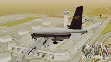 Airbus A380-800 British Overseas Airways Corp. для GTA San Andreas вид слева