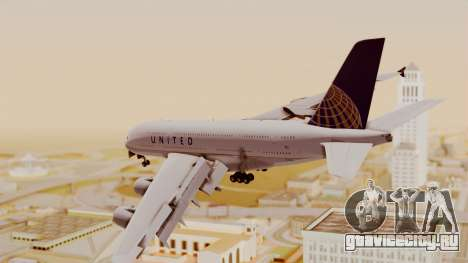 Airbus A380-800 United Airlines для GTA San Andreas вид слева