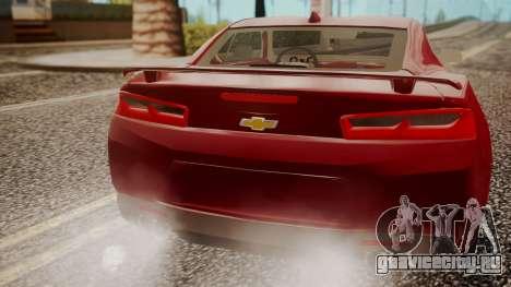 Chevrolet Camaro SS 2016 для GTA San Andreas вид справа