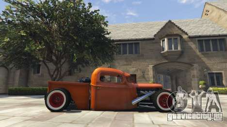 Ford Pickup HoTrod 1936 для GTA 5 вид слева