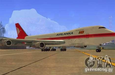 Boeing 747-200 Air Lanka для GTA San Andreas вид слева