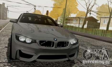BMW M4 F82 для GTA San Andreas вид изнутри