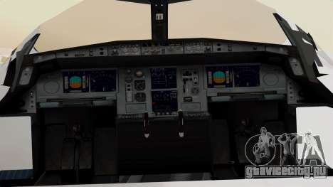 Airbus A380-800 United Airlines для GTA San Andreas вид сзади