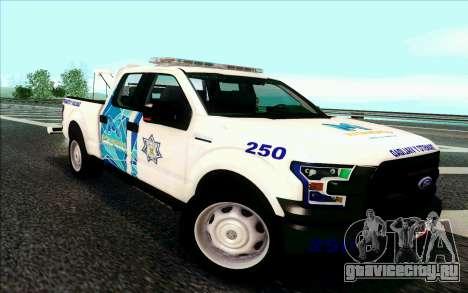 Ford F150 2015 Towtruck для GTA San Andreas вид слева