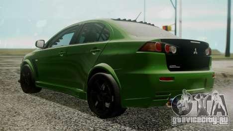 Mitsubishi Lancer Evolution X WBK для GTA San Andreas вид слева