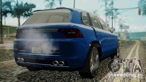 GTA 5 Obey Rocoto IVF для GTA San Andreas вид слева