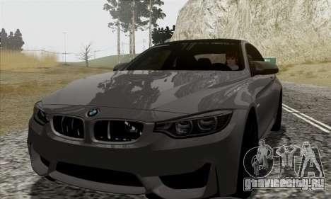 BMW M4 F82 для GTA San Andreas вид сбоку