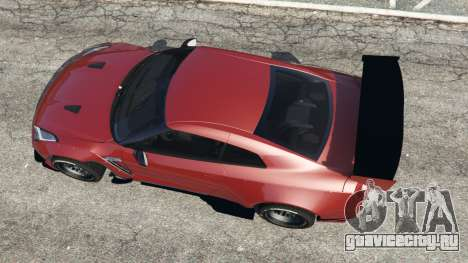 Nissan GT-R (R35) [RocketBunny] v1.1 для GTA 5 вид сзади