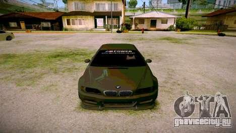BMW E46 M3 Sport для GTA San Andreas вид сзади