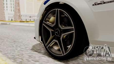 Mercedes-Benz С63 AMG ГИБДД МВД для GTA San Andreas вид сзади слева