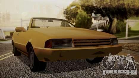 Cadrona Cabrio для GTA San Andreas вид сзади слева