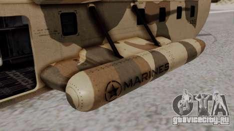 GTA 5 Cargobob для GTA San Andreas вид сзади слева