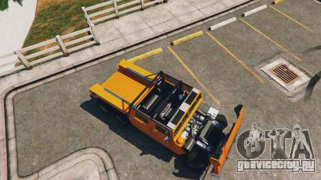 Hummer H1 6X6 v2.3 для GTA 5 вид сзади справа