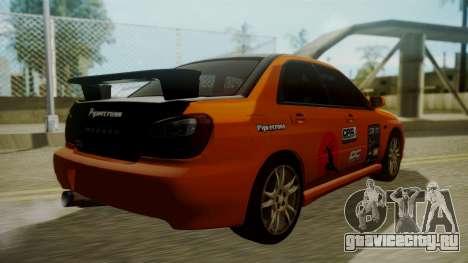 Subaru Impreza WRX GDA для GTA San Andreas салон