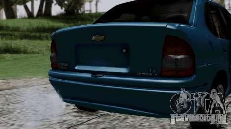Chevrolet Corsa Classic 2009 v3 для GTA San Andreas вид сзади