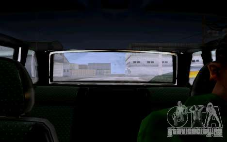 Ваз 2114 Турбо для GTA San Andreas вид изнутри
