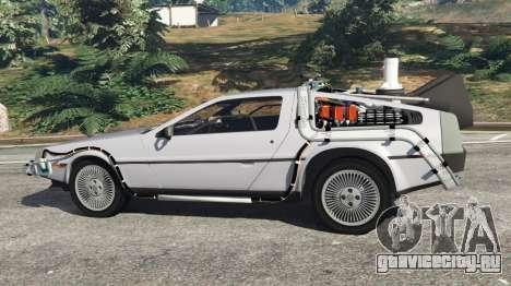 DeLorean DMC-12 Back To The Future v0.4 для GTA 5 вид слева