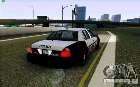 Weathersfield Police Crown Victoria для GTA San Andreas вид справа