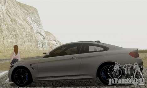 BMW M4 F82 для GTA San Andreas вид слева